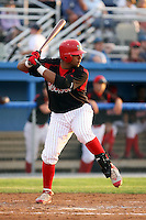 August 23 2008:  First baseman Osvaldo Morales of the Batavia Muckdogs, Class-A affiliate of the St. Louis Cardinals, during a game at Dwyer Stadium in Batavia, NY.  Photo by:  Mike Janes/Four Seam Images