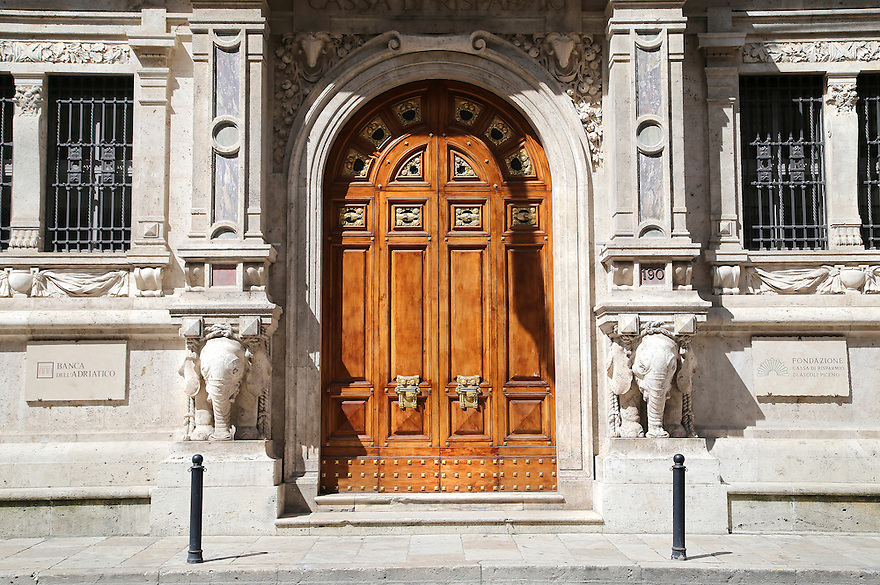 Series of door pictures in Italy.<br /> These wooden doors reflect the craftsmanship of Italian architecture.