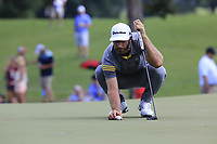 Dustin Johnson (USA) on the 15th green during Saturday's Round 3 of the 2017 PGA Championship held at Quail Hollow Golf Club, Charlotte, North Carolina, USA. 12th August 2017.<br /> Picture: Eoin Clarke | Golffile<br /> <br /> <br /> All photos usage must carry mandatory copyright credit (&copy; Golffile | Eoin Clarke)