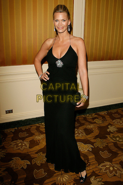 NATASHA HENSTRIDGE.The 10th Annual Costume Designers Guild Awards held at the Beverly Wilshire Hotel, Beverly Hills, California, USA..February 19th, 2008.full length dress clutch bag purse hand on hip black brooch diamond .CAP/ADM/ZL.© Zach Lipp/AdMedia/Capital Pictures.