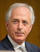United States Senator Bob Corker (Republican of Tennessee), Chairman, US Senate Committee on Foreign Relations, at the hearing considering the nomination of Rex Wayne Tillerson, former chairman and chief executive officer of ExxonMobil to be Secretary of State of the US on Capitol Hill in Washington, DC on Wednesday, January 11, 2017.<br /> Credit: Ron Sachs / CNP