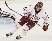 Ron Greco (BC - 28) - The visiting Merrimack College Warriors defeated the Boston College Eagles 6 - 3 (EN) on Friday, February 10, 2017, at Kelley Rink in Conte Forum in Chestnut Hill, Massachusetts.