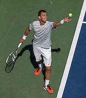 ALEKSANDR NEDOVYESOV (KAZ)<br /> The US Open Tennis Championships 2014 - USTA Billie Jean King National Tennis Centre -  Flushing - New York - USA -   ATP - ITF -WTA  2014  - Grand Slam - USA  <br /> <br /> 28th August 2014 <br /> <br /> &copy; AMN IMAGES