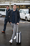 Jamie Murphy arrives at Glasgow Airport for signing talks with Rangers