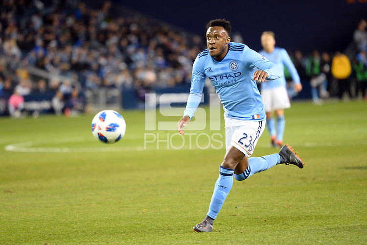 Kansas City, Kansas - March 04, 2018: New York City F.C. defeated Sporting Kansas City 2-0 in the season opener at Children's Mercy Park.