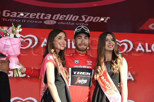 25.05.2016. Molveno to Cassano d'Adda, Milan, Italy. Giro d'Italia Cycling tour, stage 17.  Trek Factory Racing; Nizzolo, Giacomo on the podium