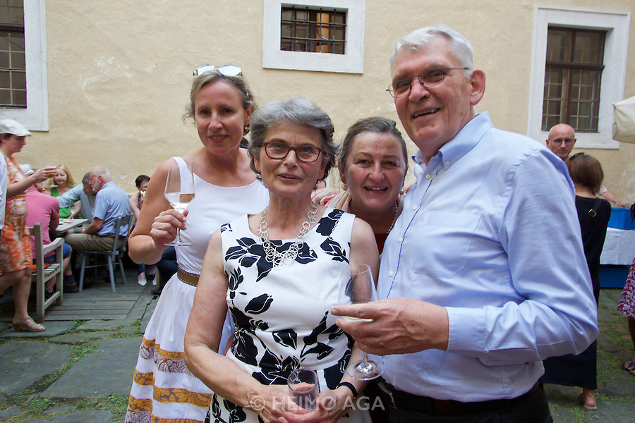 Gars am Kamp, Lower Austria. Kunstraum Buchberg at Buchberg castle. Opening of the permanent installation &quot;cin&eacute;ma&quot; (2014) by Dorit Margreiter.<br />