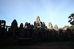 The ruins of Bayon in Angkor Thom, Cambodia. June 8, 2013.
