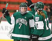 Camille Dumais (Dartmouth - 7), Lisa Berreman (Dartmouth - 12) - The visiting Dartmouth College Big Green defeated the Harvard University Crimson 3-2 on Wednesday, November 23, 2011, at Bright Hockey Center in Cambridge, Massachusetts.