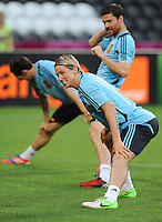 Football - Spain Training - Donbass Arena, Donetsk, Ukraine - 22/6/12..Spain's Fernando Torres during training..Mandatory Credit: Action Images / Henry Browne..Livepic