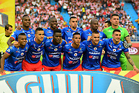 BARRANQUILLA-COLOMBIA, 21-04-2019: Jugadores de Deportivo Pasto, posan para una foto, antes de partido de la fecha 17 entre Atlético Junior y Deportivo Pasto, por la Liga Águila I 2019, jugado en el estadio Metropolitano Roberto Meléndez de la ciudad de Barranquilla. / Players of Deportivo Pasto, pose for a photo, prior a match of the 17th date between Atletico Junior and Deportivo Pasto, for the Aguila Leguaje I 2019 played at the Metropolitano Roberto Melendez Stadium in Barranquilla city, Photo: VizzorImage / Alfonso Cervantes / Cont.