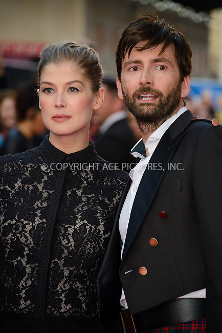 ACEPIXS.COM<br /> <br /> September 22 2014, London<br /> <br /> Rosamund Pike and David Tennant arriving at the UK premiere of 'What We Did On Our Holiday' at the Odeon West End on September 22 2014 in London<br /> <br /> By Line: Famous/ACE Pictures<br /> <br /> ACE Pictures, Inc.<br /> www.acepixs.com<br /> Email: info@acepixs.com<br /> Tel: 646 769 0430