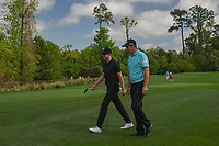 Jonas Blixt (SWE) and Padraig Harrington (IRL) make their way to the 12th tee during round 1 of the Houston Open, Golf Club of Houston, Houston, Texas. 3/29/2018.<br /> Picture: Golffile | Ken Murray<br /> <br /> <br /> All photo usage must carry mandatory copyright credit (© Golffile | Ken Murray)