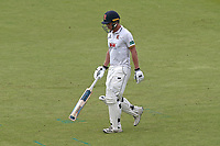 Tom Westley of Essex leaves the field having been dismissed during Lancashire CCC vs Essex CCC, Specsavers County Championship Division 1 Cricket at Emirates Old Trafford on 10th June 2018