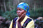 Willermine Mulihano - 27 yrs old from near Bukavu, Eastern Congo.  She was raped twice, once two years ago by five Hutu soldiers in front of her mother in law, the second time in July by a Congolese militia.  Her husband divorced her after the first rape.  She said 'I am anxious and broken hearted'.<br />
