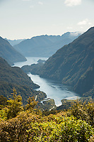 Doubtful Sound with Deep Cove, Fiordland National Park, Southland, World Heritage Area, New Zealand