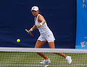 June 13th 2017, The Northern Lawn tennis Club, Manchester, England; ITF Womens tennis tournament; Number 8 seed Su Jeong Jang (KOR) plays a forehand during her first round singles match against Arina Rodionova (AUS); Rodionova won in three sets