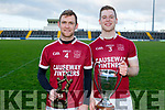 Causeways captain Muris Delaney and Man of the Match Tommy Barrett after their win over St Brendans in the Division 1 County Hurling League final