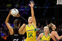 Diamonds&rsquo; Courtney Bruce in action during the International Netball Constellation Cup - NZ Silver Fans v Australia Diamonds at TSB Bank Arena, Wellington, New Zealand on Thursday 18 October  2018. <br /> Photo by Masanori Udagawa. <br /> www.photowellington.photoshelter.com
