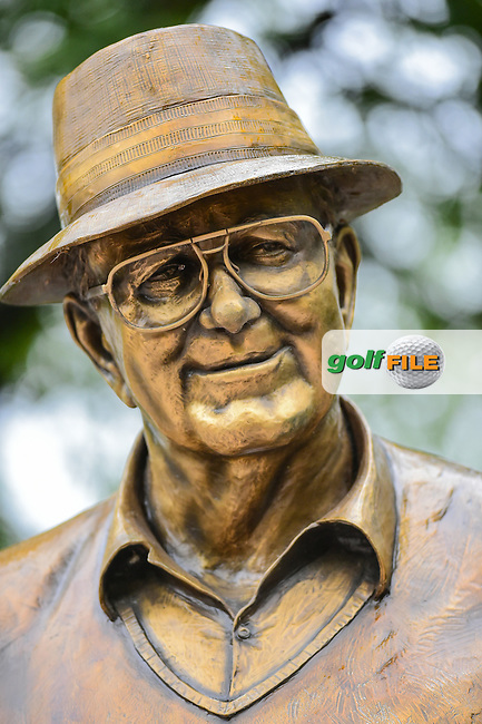 The Byron Nelson statue during the round 1 of  the AT&amp;T Byron Nelson, TPC Four Seasons, Irving, Texas, USA. 5/19/2016.<br /> Picture: Golffile | Ken Murray<br /> <br /> <br /> All photo usage must carry mandatory copyright credit (&copy; Golffile | Ken Murray)