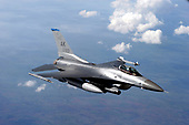 In this photo provided by the United States Air Force, an F-16 Fighting Falcon from the 18th Fighter Squadron at Eielson Air Force Base, Alaska, prepares to refuel from a KC-135 Stratotanker at Red Flag-Alaska July 20, 2007. More than 80 aircraft and 1,500 service members from six countries are participating in the exercise July 12 to 27 to sharpen their combat skills in simulated combat sorties. Red Flag-Alaska's multinational participation and the addition of the Pacific Alaskan Range Complex assets provide realistic combat training in a safe and controlled setting. <br /> Mandatory Credit: Tana R.H. Stevenson / USAF via CNP