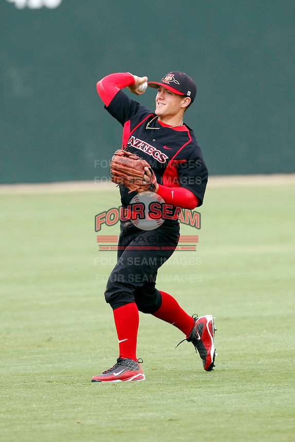 Easton Gust - 2009 San Diego State Aztecs playing against the Texas Christian Horned Frogs at Tony Gwynn Stadium, San Diego, CA - 04/25/2009 .Photo by:  Bill Mitchell/Four Seam Images