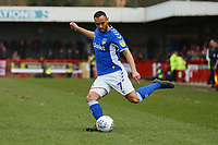 Johan Branger-Engone of Oldham Athletic during Crawley Town vs Oldham Athletic, Sky Bet EFL League 2 Football at Broadfield Stadium on 7th March 2020