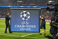 Logo UEFA Champions League, Symbol, Illustration, Feature, <br /> PSG PARIS SAINT GERMAIN - FC BAYERN MUENCHEN  3-0<br />  , Football UEFA Champions League, Paris, 27.09.2017<br /> CL  2017/2018, FCB, <br /> <br />  *** Local Caption *** © pixathlon<br /> Contact: +49-40-22 63 02 60 , info@pixathlon.de