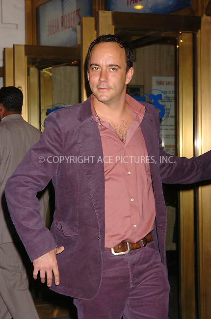 "WWW.ACEPIXS.COM . . . . . ....April 19 2006, New York City....DAVE MATTHEWS....Arrivals at the opening night of ""Three Days of Rain"" staring Julia Roberts at the Bernard B Jacobs Theatre in midtown Manhattan....Please byline: AJ SOKALNER - ACEPIXS.COM..... . . . . ..Ace Pictures, Inc:  ..(212) 243-8787 or (646) 679 0430..e-mail: picturedesk@acepixs.com..web: http://www.acepixs.com"