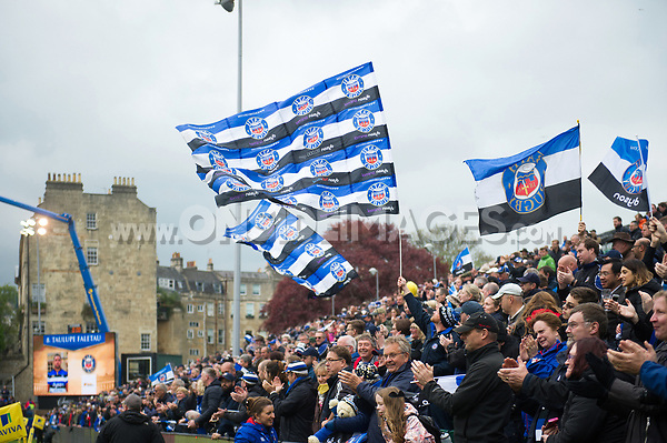 A general view of Bath Rugby supporters in the crowd after the match. Aviva Premiership match, between Bath Rugby and Gloucester Rugby on April 30, 2017 at the Recreation Ground in Bath, England. Photo by: Patrick Khachfe / Onside Images