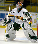 6 January 2007: University of Vermont goaltender Mike Spillane (31) from Bow, NH, warms up prior to a game against the University of New Hampshire Wildcats at Gutterson Fieldhouse in Burlington, Vermont. The Wildcats defeated Vermont 2-1 to sweep the two-game weekend series in front of a record setting 49th consecutive sellout at the Gut...Mandatory Photo Credit: Ed Wolfstein Photo.<br />