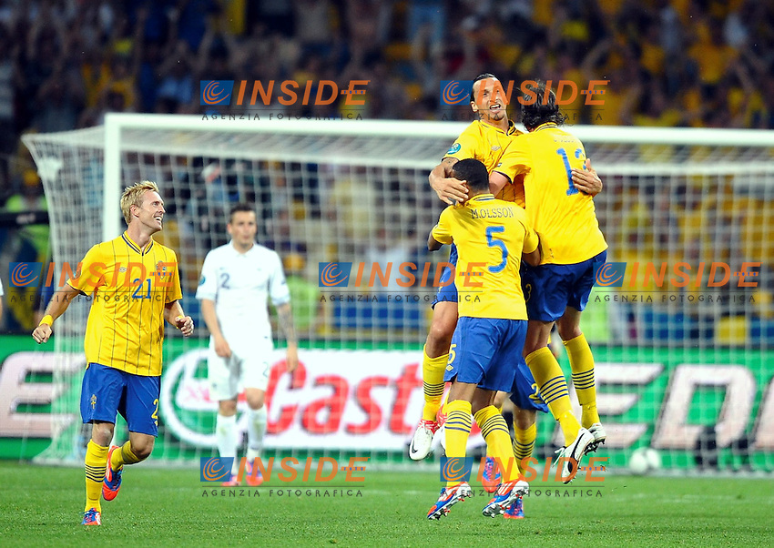 joies Zlatan IBRAHIMOVIC (sue) .Kiev 19/6/2012 .Calcio Football Euro 2012.Francia Vs Svezia.Foto Insidefoto / Panoramic.Italy ONLY