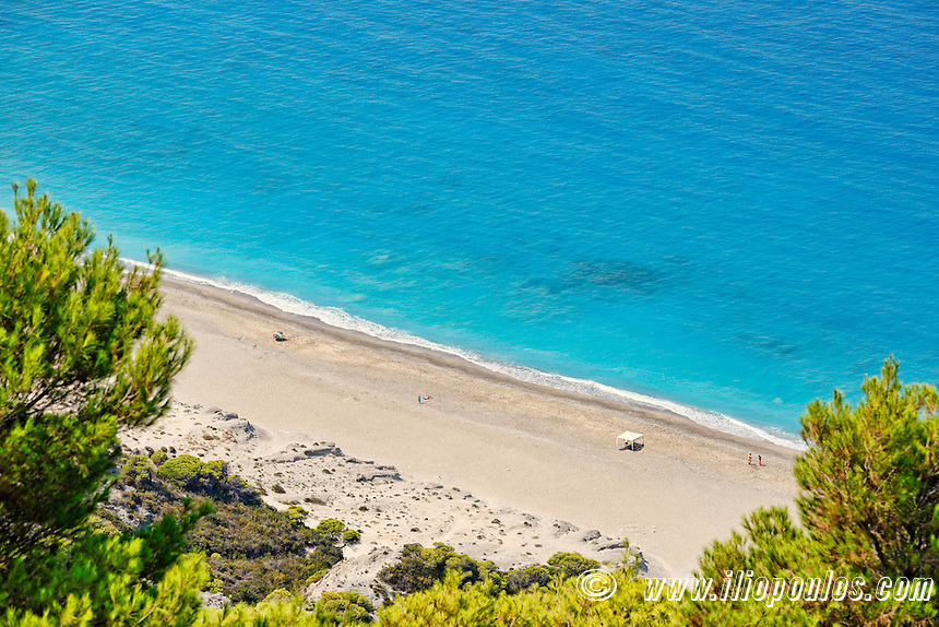 The beach Yialos in Lefkada, Greece
