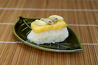 "Asian hornet larvae sushi. Tokyo resident Shoichi Uchiyama is the author of ""Fun Insect Cooking"". His blog on the topic gets 400 hits a day. He believes insects could one day be the solution to food shortages, and that rearing bugs at home could dispel food safety worries."