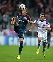 FUSSBALL   CHAMPIONS LEAGUE   SAISON 2013/2014   Vorrunde FC Bayern Muenchen - ZSKA Moskau       17.09.2013 Mario Mandzukic (FC Bayern Muenchen) am Ball