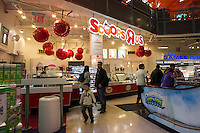 Scoops R Us ice cream kiosk inside of the Toys R US store in Times Square in Midtown Manhattan in New York on Tuesday, May 6, 2014.  (© Richard B. Levine)