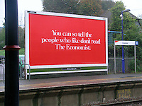 Really bright advert at a small local rail station in Surrey