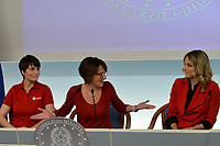 Samantha Cristoforetti, Elena Bonetti and Francesca Fialdini<br /> Rome November 21st 2019. Palazzo Chigi. Press conference for International Day for the Elimination of Violence against Women<br /> Foto  Samantha Zucchi Insidefoto