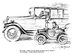 """The driver.""""What do you think of those little things?"""" The passenger.""""Make topping ash-trays."""""""