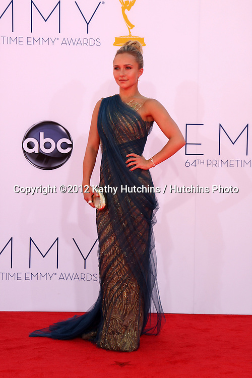 LOS ANGELES - SEP 23:  Hayden Panettiere arrives at the 2012 Emmy Awards at Nokia Theater on September 23, 2012 in Los Angeles, CA