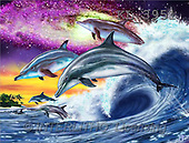 Interlitho, Lorenzo, REALISTIC ANIMALS, paintings, dolphins, universe(KL3951,#A#) realistische Tiere, realista, illustrations, pinturas ,puzzles