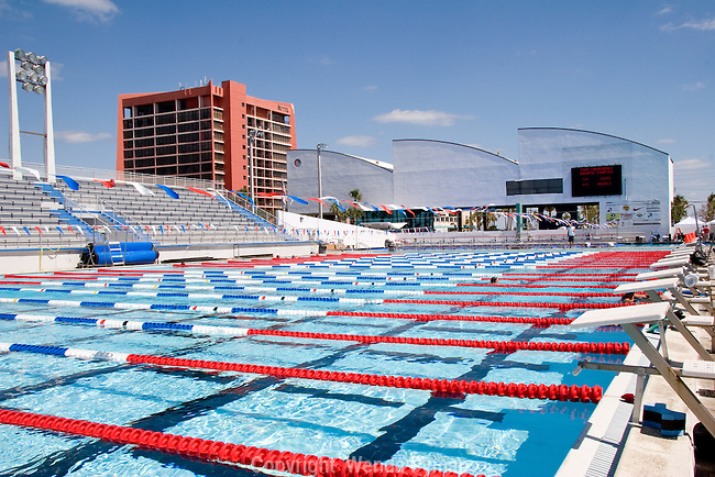 Competitve swimming is held at the International Swimmers Hall of Fame
