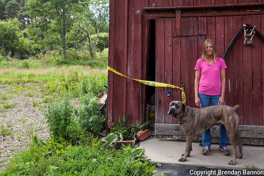 BrandyThompson, a Friendship, NY resident reported seeing two men on a railroad line behind her house that fit the descriptions of the two escaped convicts.