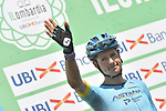 Jakob Fuglsang (DEN) Astana Pro Team at sign on before the start of the 114th edition of Il Lombardia 2020, running 231km from Bergamo to Como, Italy. 15th August 2020.<br /> Picture: LaPresse/Fabio Ferrari | Cyclefile<br /> <br /> All photos usage must carry mandatory copyright credit (© Cyclefile | LaPresse/Fabio Ferrari)