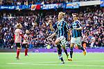 Stockholm 2014-08-31 Fotboll Allsvenskan Djurg&aring;rdens IF - Malm&ouml; FF :  <br /> Djurg&aring;rdens Sebastian Andersson har gjort 2-0 och jublar med Haris Radetinac<br /> (Foto: Kenta J&ouml;nsson) Nyckelord:  Djurg&aring;rden DIF Tele2 Arena Malm&ouml; MFF jubel gl&auml;dje lycka glad happy