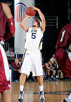 Florida International University guard Steven Miro (5) plays against Troy University, which won the game 75-70 in overtime on February 23, 2012 at Miami, Florida. .