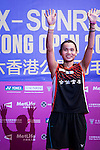 Tai Tzu Ying of Taiwan celebrates altering defeating Pusarla V. Sindhu of India during their Women's Singles Final of YONEX-SUNRISE Hong Kong Open Badminton Championships 2016 at the Hong Kong Coliseum on 27 November 2016 in Hong Kong, China. Photo by Marcio Rodrigo Machado / Power Sport Images