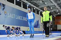 SCHAATSEN: SALT LAKE CITY: Utah Olympic Oval, 12-11-2013, Essent ISU World Cup, training, Pekka Koskela (FIN), ©foto Martin de Jong