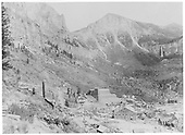 Pandora Basin looking east with the Smuggler Union Mill dominating.<br /> RGS  Pandora, CO  CA 1920