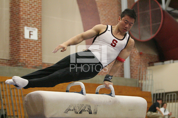 STANFORD, CA - JANUARY 9:  Jason Shen of the Stanford Cardinal during Stanford's Cardinal vs. White intrasquad exhibition match on January 9, 2009 at Burnham Pavilion in Stanford, California.